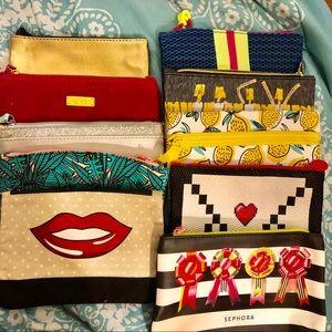 Bundle of 10 Cosmetic Bags